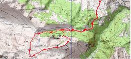Au départ du Bénou, boucle par la crête de Pan, pour aller jusqu'au col de Lansatté, puis retour par le col d'Aran. Trace GPs téléchargeable, topo, itinéraire, carte IGN imprimable, et nombreuses photos. Au pied du Montagnon et du Mailh Massibé.