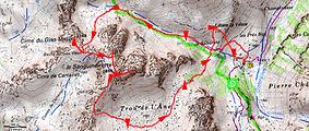 Randonnée et ascension de la Cime du Gias Vieux et le Sanguineirette en boucle depuis le vallon de Valloar et retour par le Trou de l'Âne