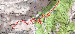 Randonnée raquettes au col de Lariou, par la cabane de Lauda, depuis le pont de Bilhères. Endroit sauvage et peu fréquenté en hiver. Itinéraire, topo, trace GPS téléchargeable, carte IGN, et photos. À découvrir quand le risque d'avalanches en haute montagne est important.