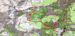 Randonnée Montagnon de Besse au départ de Goust. carte IGN 1/25