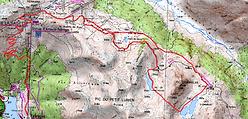 Randonnée aux lacs de Labachotte et d'Ormielas, depuis Fabrèges. Retour par le pic de la Sagette de Buzy. Boucle sauvage qui emprunte la voie ferrée du petit train d'Artouste. Topo, itinéraire, trace GPS téléchargeable, carte IGN, et photos.
