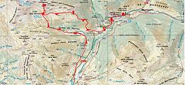 Randonnée et ascension du Tuc des Cardigassos, depuis le Pla de Beret, en Val d'Aran. Nuit au refuge Amics de Montgarri. Très belle boucle alternant versants nord et versants sud, donnant des contrastes de couleurs superbes.Itinéraire, topo, trace GPS téléchargeable, carte IGN, et nombrteuses photos.
