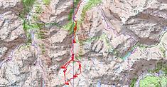 Carte IGN Col des Gisletas par le circuit des lacs