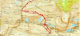 Trace GPS ascension du Pico Anonimo par la brèche de Roland et retour par le Pas des Isards, depuis le col des Tentes