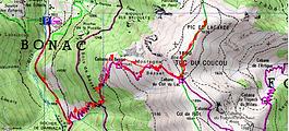 Randonnée au Tuc du Coucou, et au pic de Lagarde, par la cabane de Besset, et la cabane du Clot du lac, depuis le parking de la Pucelle. Itinéraire, topo, trace GPS téléchargeable, carte IGN, et photos. Belle randonnée dans la vallée du Biros, et très facile.