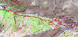 carte IGN 1/25 Refuge de Sestrière