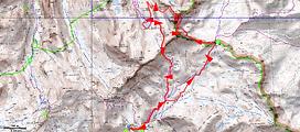 randonnée et ascension du rocher des trois évêques et Tête de l'Enchastraye.Carte IGN 1/25