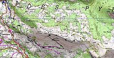 carte IGN 1/25 Mont Lazive