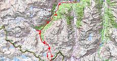 Randonnée du Pont d'Espagne, jusqu'au col d'Arratille, en passant par le refuge Wallon, le lac d'Arratille, le lac du col d'Arratille, et retour par le lac de la Badète. Nuit au refuge Wallon. Trace GPS, carte IGN, itinéraire, topo, et photos. Superbe randonnéee et une des plus belles vues sur le Vignemale.