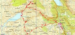 Randonnée et asension de la Punta de los Calcines, Punta de la Cochata, Punta Tarmañones, Punta del Pacino, au départ d'Escarilla.