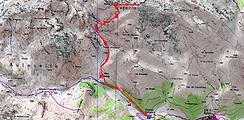 Randonnée et ascension de l'Arbizon. Carte IGN 1/25