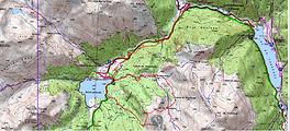 Randonnée raquettes au col de Moundelhs, en boucle par la cabane de Magnabaigt depuis Bious-Artigues. Trace GPS téléchargeable, carte IGN, topo, itinéraire, photos. Une randonnée sauvage qui offre une vue originale sur le pic du Midi d'Ossau depuis la crête de Moundelhs.