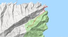 Trace GPS d'Achla sur carte, depuis le monastère Saint Nikolaos