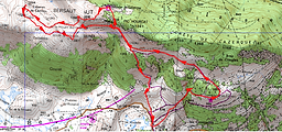 Randonnée Pic Bersaut et Soum de Counée, par le Cayolar de Lazercou, et la cabane de Castillou, depuis le plateau du Bénou. Itinéraire, topo, trace GPS téléchargeable, carte IGN, et photos. Beau circuit facile.