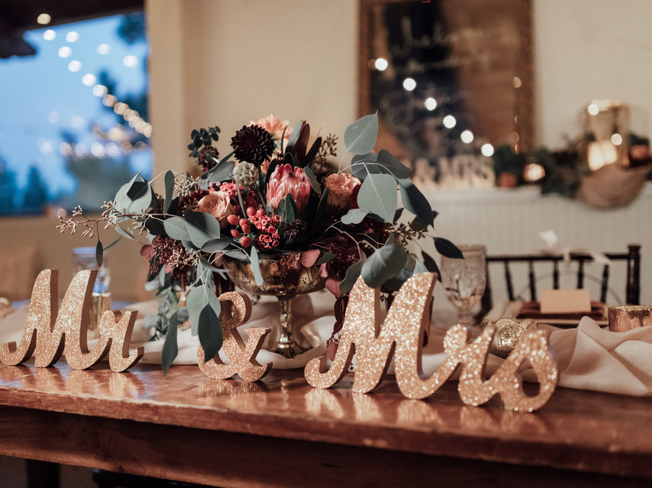 Mr and Mrs Sweetheart Table Decordecor