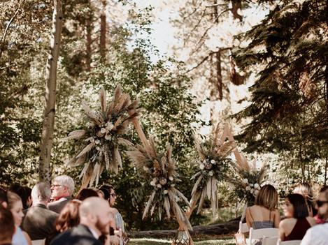 Bohemian Wedding Ceremony Decor