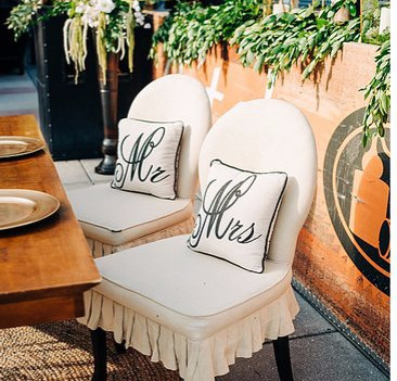 Modern Sweetheart Tables Details