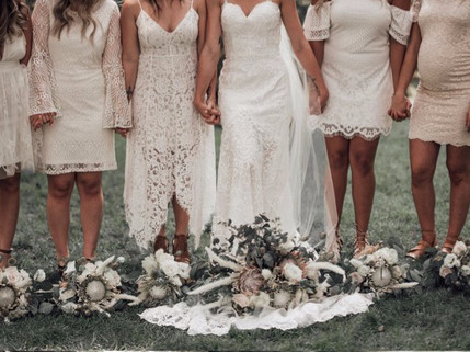 Bohemian Bride and Maids Bouquets