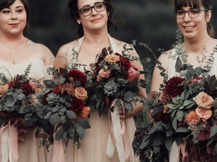 Rich Romantic Warm Colored Bouquets