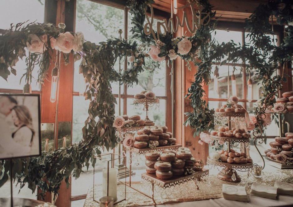 Romantic Floral Donut Bar