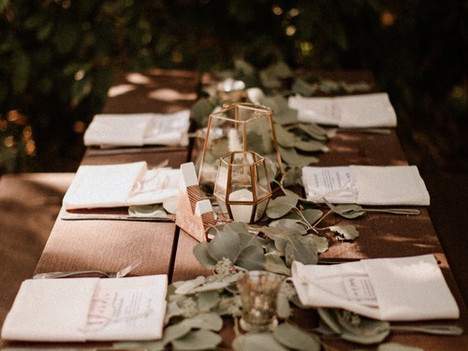 Boho-Mountian Top Table Decor and Details