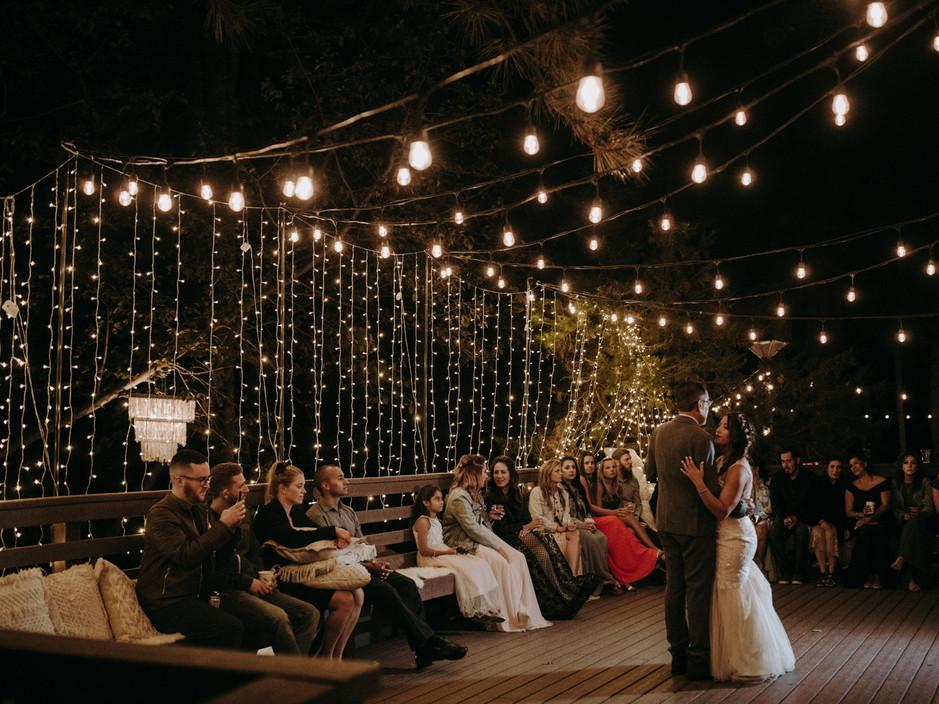 Outdoor Dancefloor Under The Lights