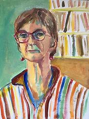 Portrait à l'huile du 15 mars. Sur papier format A3.