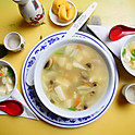 Vegetable and Bean Curd Soup (For Two)