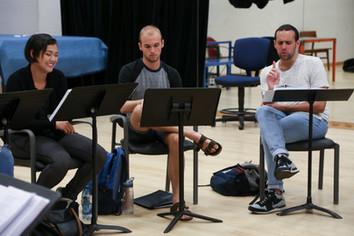 Rehearsal for Joe Schmoe Saves the World