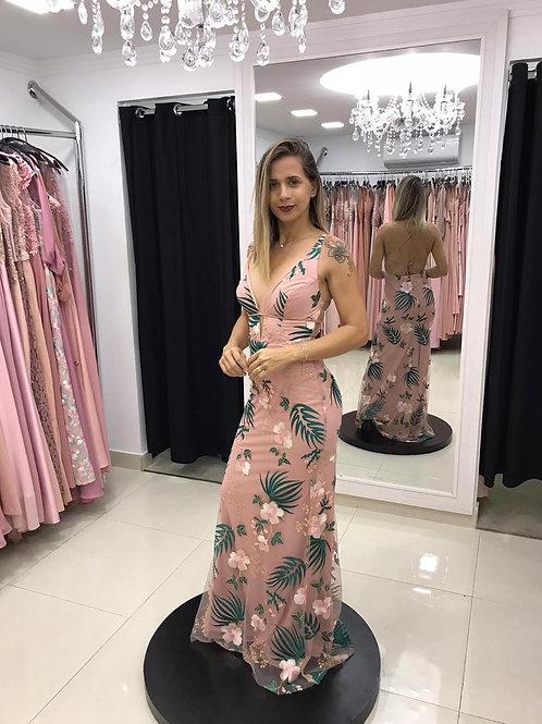 ROSA FLORIDO VERDE