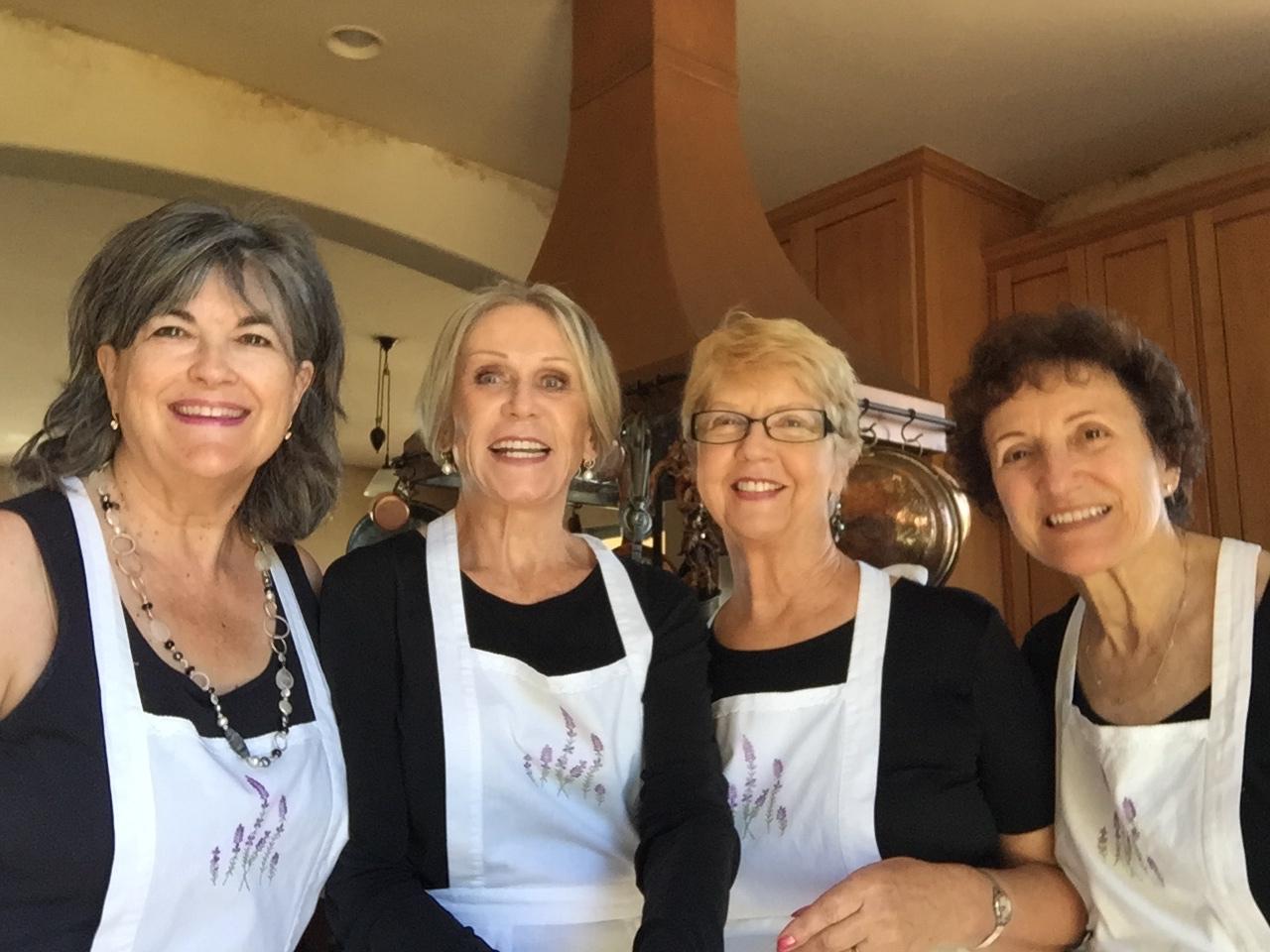 Four maids at Tea