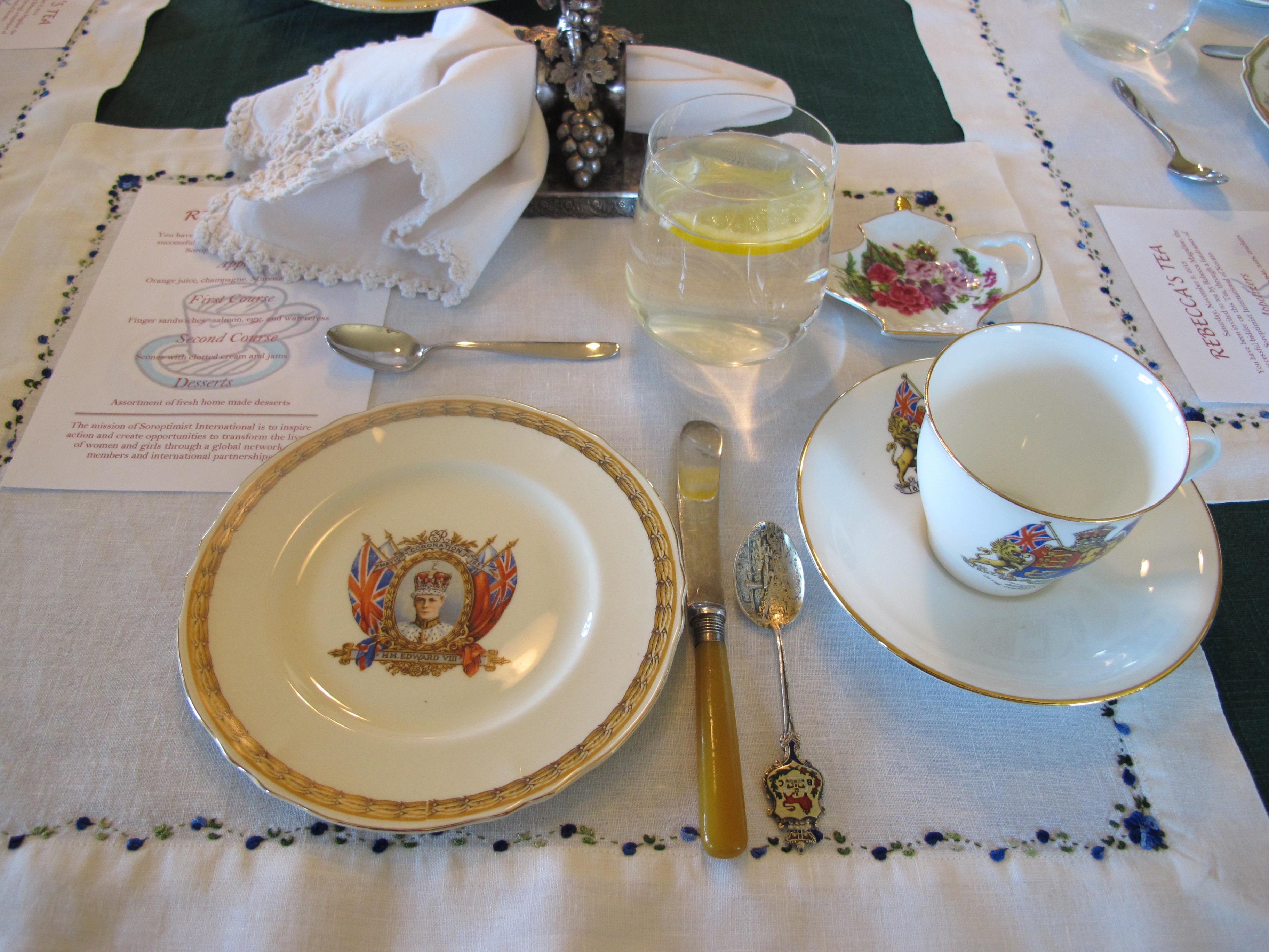 Antique tea setting