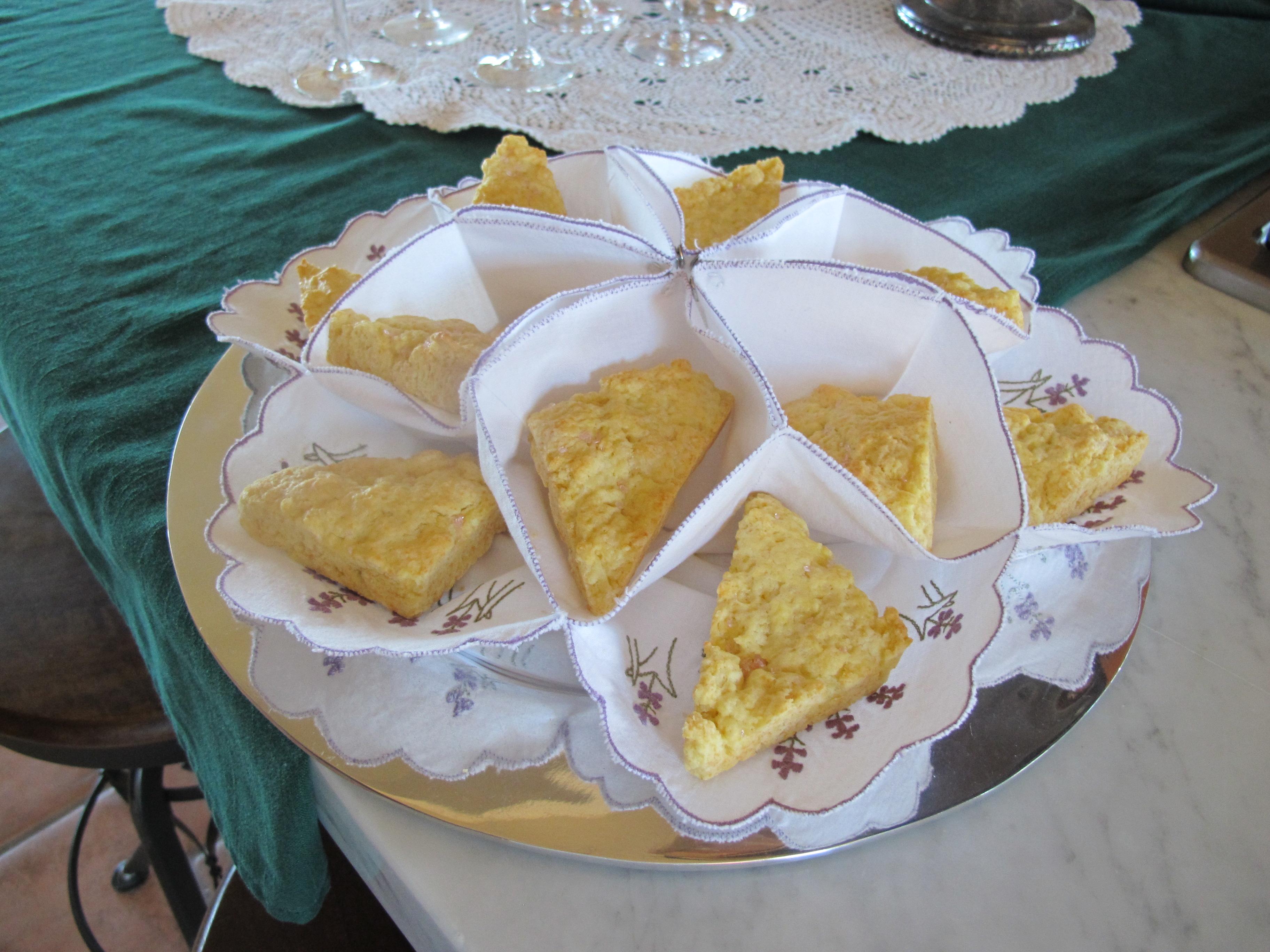 Homemade scones for Tea