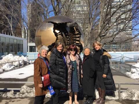Soroptimist members at UN