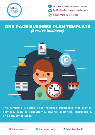 One Page Business Plan ( Service Business)