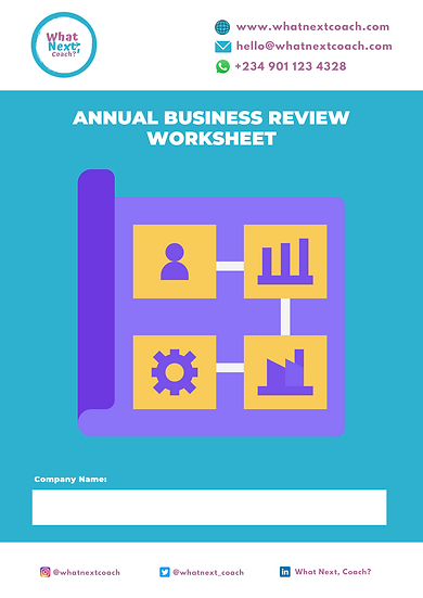 Annual Business Review Worksheet