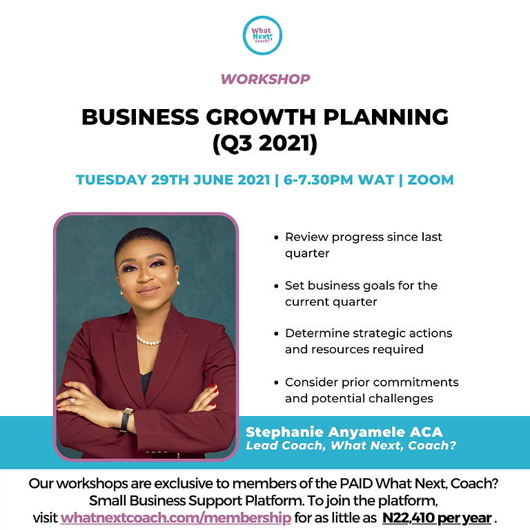 BUSINESS GROWTH PLANNING (Q3 2021)