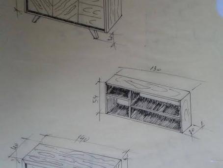 Bufê e estante - Buffet et étagère