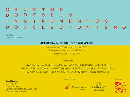Exposição na Galeria 189: Objetos Do Desejo - Instrumentos Do Colecionismo