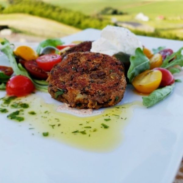 MOROCCAN LENTIL AND SWEET POTATO CAKES W