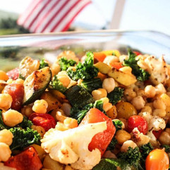 GARBANZO BEAN SALAD WITH COUGAR GOLD CHE
