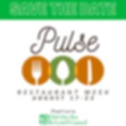 Pulse Restaurant Week 2020 promo materia