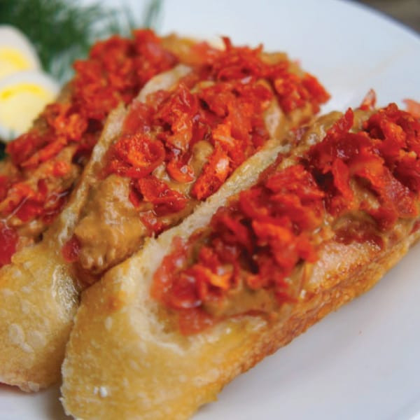 CATALAN TOMATO BREAD WITH LENTIL BUTTER
