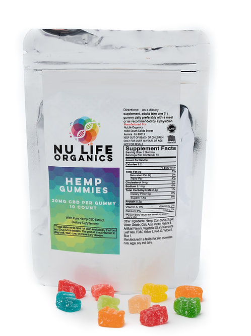 Nu-Life Health and Wellness 250mg Gummy (10 pcs. pack)