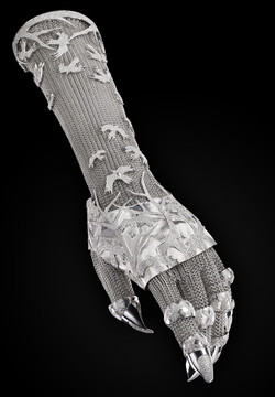 one-of-a kind diamond glove by Shaun Leane and  Daph