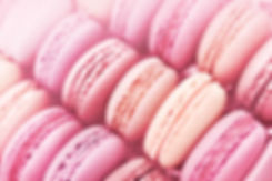 Raspberry and strawberry pink macarons o