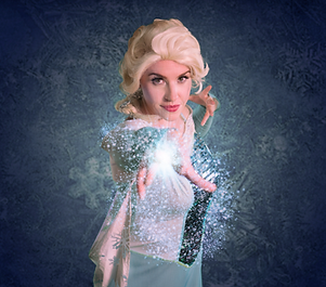 elsa close up casting spell