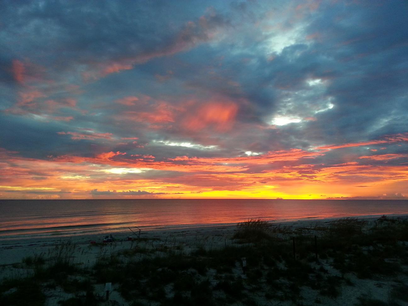Blazing sunsets