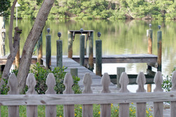The dock at Coquina Cove