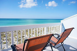 The Gulf view from Dolphin Beach | Our homes